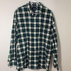 Nordstrom Men's Shop Green Flannel Button Down